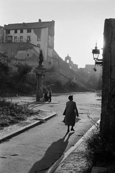 railways-and-roses:  The war-damaged city of Berlin, 1950s. [Erich Lessing]