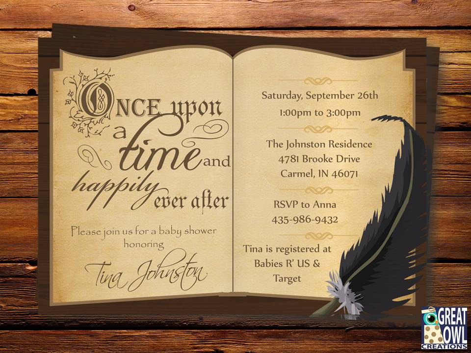 great owl creations a book theme baby shower invitation is the perfect. Black Bedroom Furniture Sets. Home Design Ideas