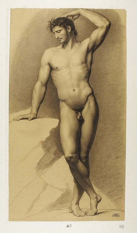 Male model. Jean Baptiste Joseph Wicar. French. 1762-1834. drawing. http://hadrian6.tumblr.com