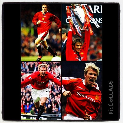 "David Beckham. The man who got me started on supporting Manchester United. My idol, my role model, my inspiration.  As a kid growing up watching soccer it would only be right to say I was obsessed with him. Picking his jersey numbers, imitating his goal celebrations, posters of him all over the wall. Those breathtaking goals, freekicks & the ""Hollywood"" passes will always be etched in my mind.   He was an inspiration in life outside of sports. When faced with the adversity of having his entire nation against him, rooting for his failure, he kept going. He kept playing. And you know what? He won. He showed the world and he showed me that no matter what they say, no matter what they do to you, keep pushing. In school, in sports, and in life, don't listen to ""them."" Silence them. Show them that you are better than they think. Better yet, show yourself that you are better than you have ever been before. He expressed this through the game. That's why it's sad to see his retirement. The magic of seeing him play live will disappear, but his mark will live on.  He will be missed but never forgotten. You were one of the best there ever was. Truly a legend. Truly a great."