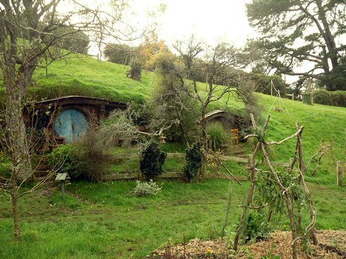 Did you see The Hobbit this weekend? We were surprised to learn that the film set for The Shire is a real working vegetable garden! Check out these photos.