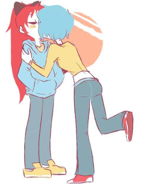 sailorleo:  mwah i also got a bunch of kyosaya requests. idk if i'll have time to do any more but hey i got to draw some anime girlfriends