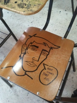 sashacharis:  omgggg my friends school did this on every chair as their senior prank