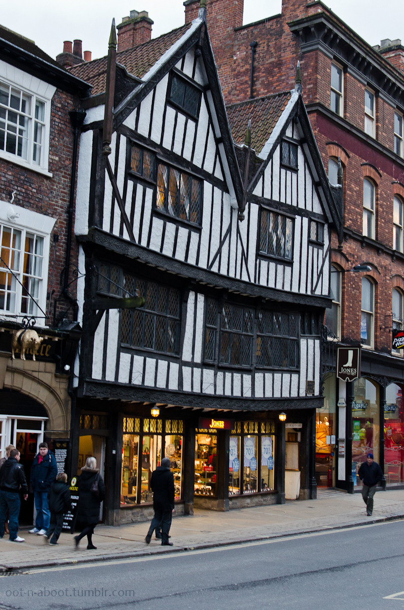 Sir Thomas Herbert's House - a Tudor building in York, England. Photo © B.B February 2013. | via oot-n-aboot