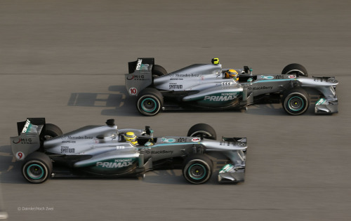 Mercedes at the 2013 Malaysian GP.(via F1Fanatic)