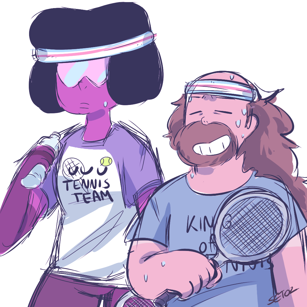 """Garnet and Greg play tennis on weekends"""