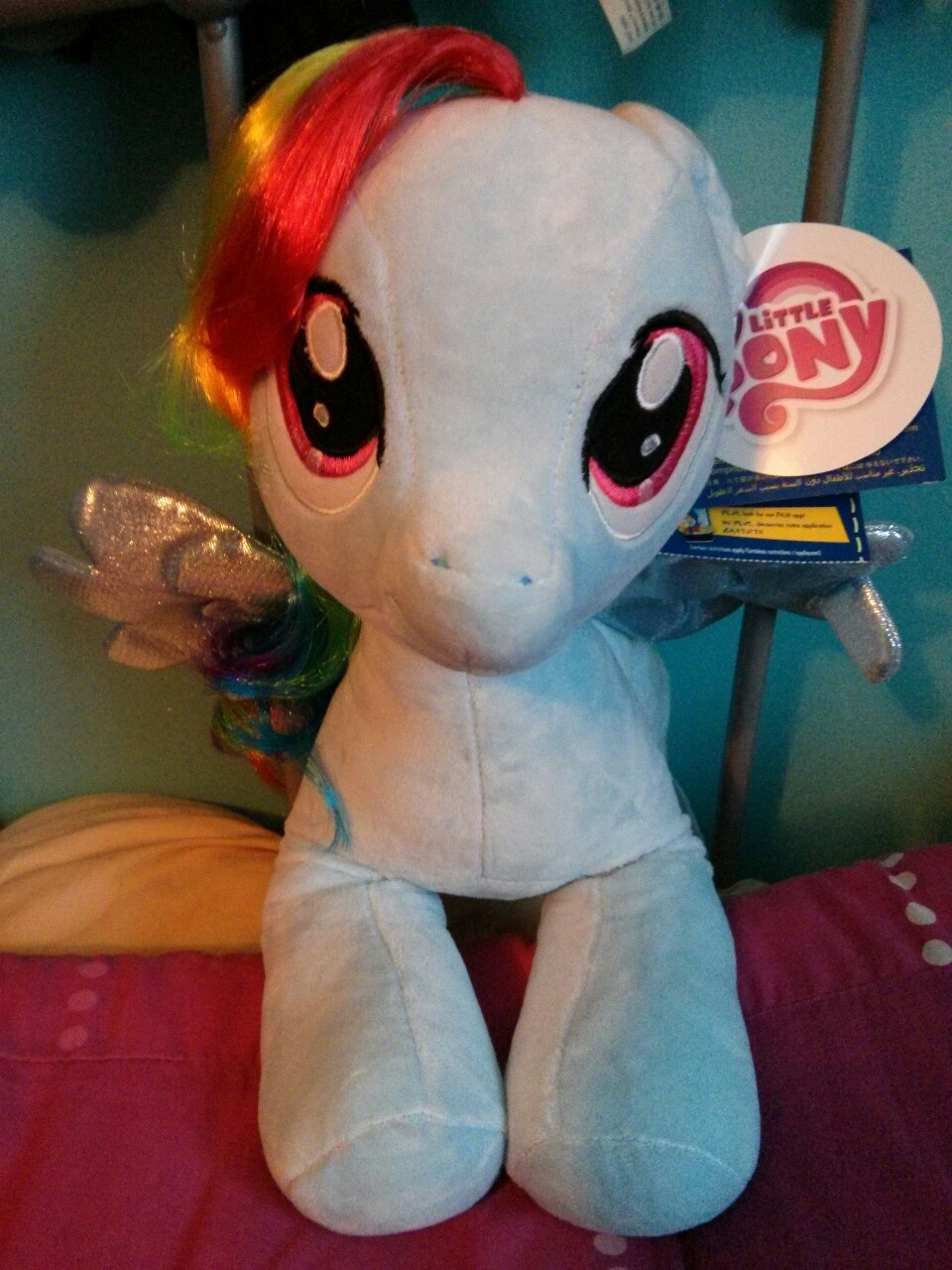 HEHEHEH I got a Rainbow Dash from Build-A-Bear….