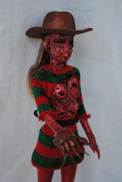 This Freddie Krueger Barbie is disturbingly awesome…