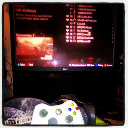 #basement #kicking it on the #xbox  with the #horrible #blackops2 about to hit the #halo