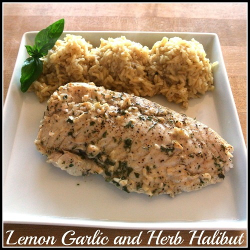 #healthy lemon garlic and herb halibut #recipe http://whatsfordinner-momwhatsfordinner.blogspot.com/2013/05/lemon-garlic-and-herb-halibut.html   #glutenfree #lowcal #diet