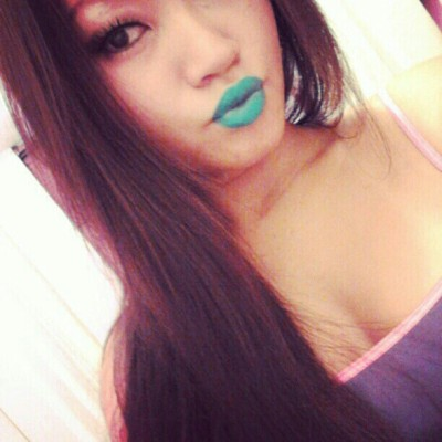 #KAOIRDOLL @toco_blackdiamond rocking her #KAOIR #POOLPARTY #Turquoise #Lipstick - www.KAOIR.com