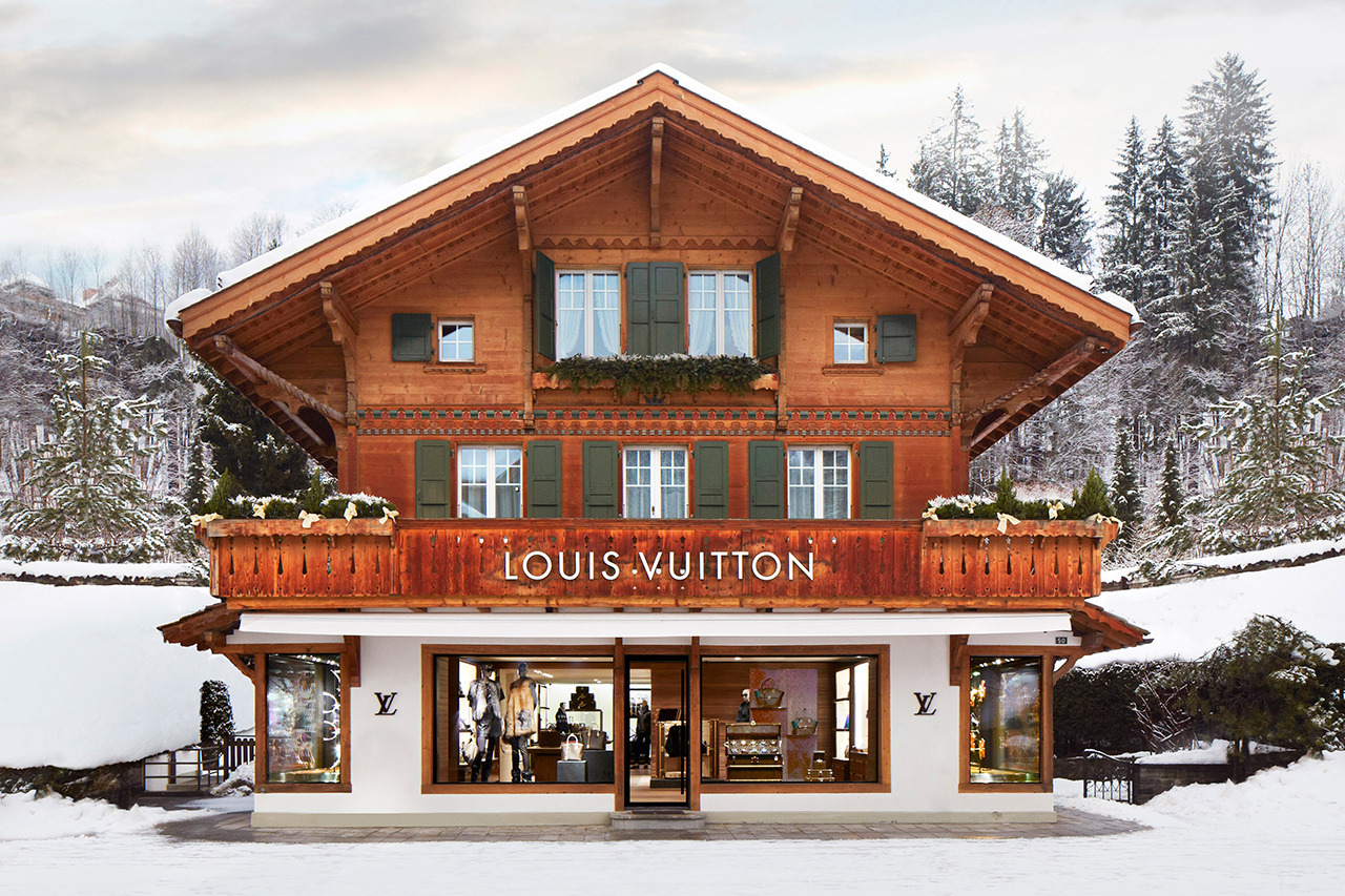 "asthetiques:  Louis Vuitton - Opens New ""Winter Resort"" Store in Switzerland."