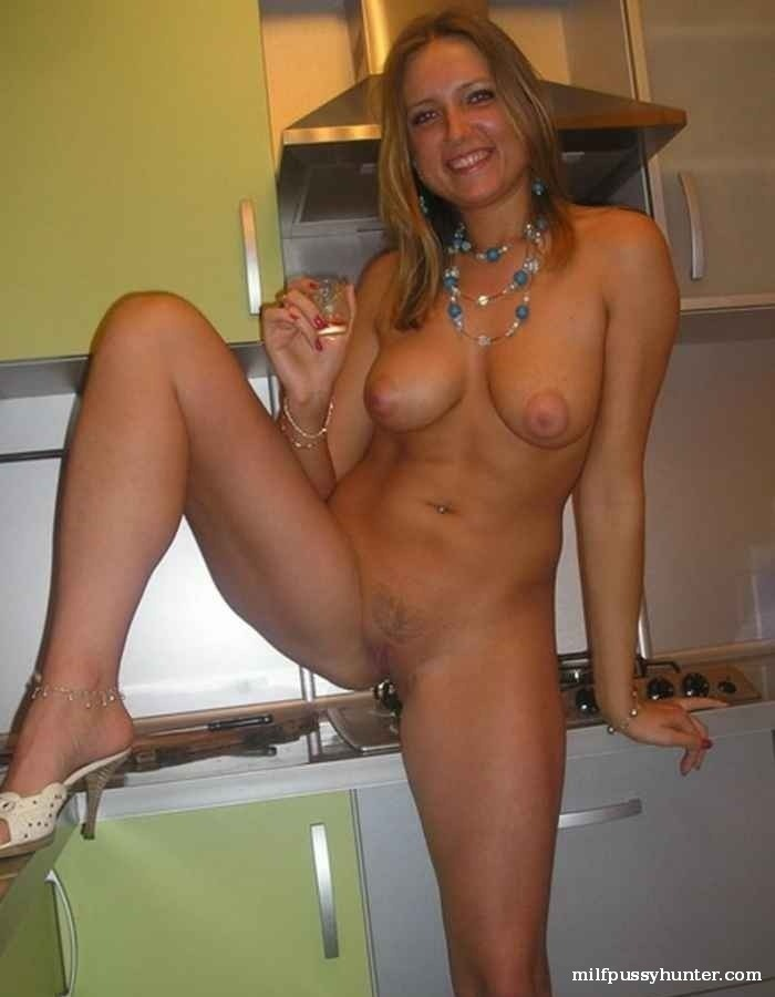 Naked wife kitchen nude