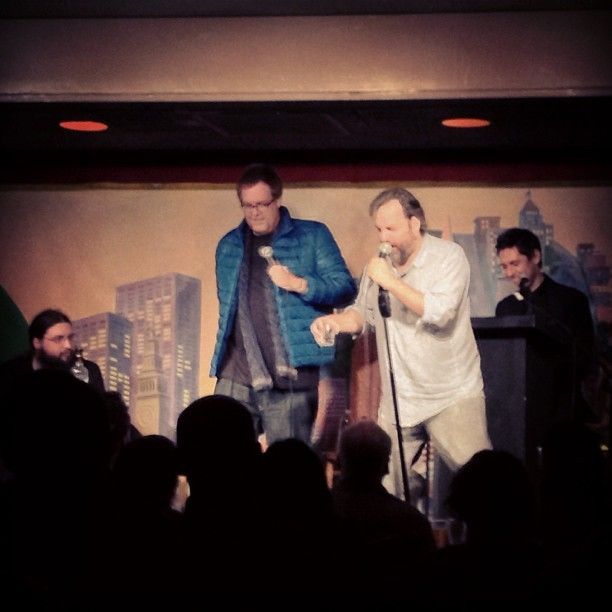 freestyle standup off. @thesixler @steveagee @danharmon @jeffbryandavis #harmoncountry #sfsketchfest