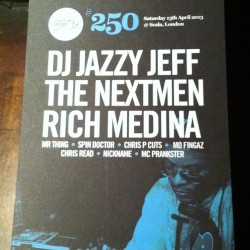 Saturday Night … Scala, @djjazzyjeff @richmedina, @thenextmen @djmofingaz @chris_read @nick_armitage @spindoctoruk can't wait! by djmrthing http://bit.ly/10O8ZBF