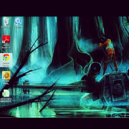 My laptop background. Luke's lesson on Dagobah really speaks to me when addressing a problem that seems too big to handle. happy #starwars day. #Maythe4thbewithyou