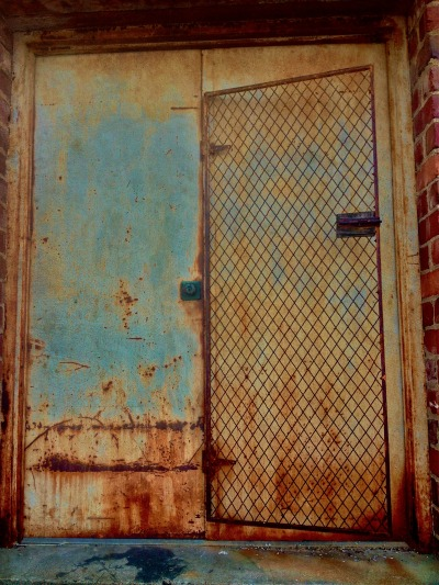 Safety door?  (alley-way amble; photo mine; iphone 4s)
