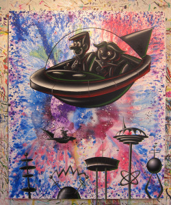 A new painting by Kenny Scharf.  (source: ArtRuby.com)