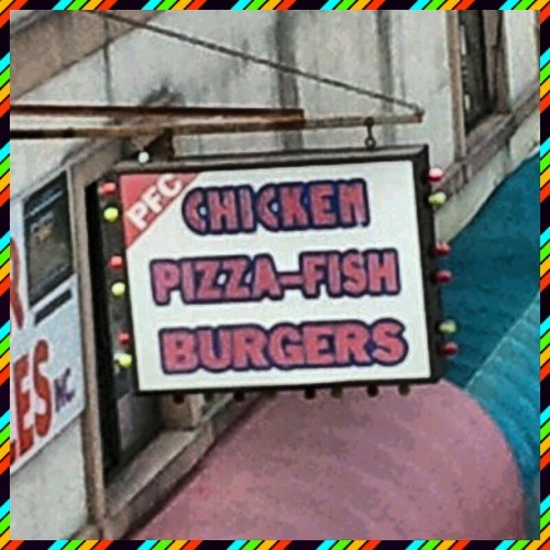 Oh my GAWD somebody get me a Pizza-Fish Burger— STAT!