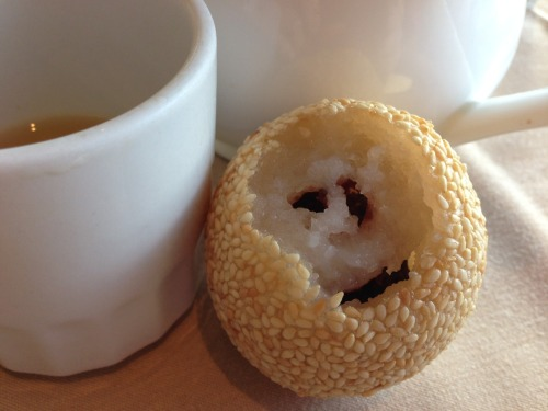 Red Bean Sesame Ball Dim Sum Monster!
