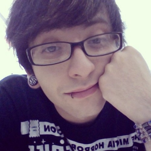 #oldtimes #emo #glasses #plugs #animalprint