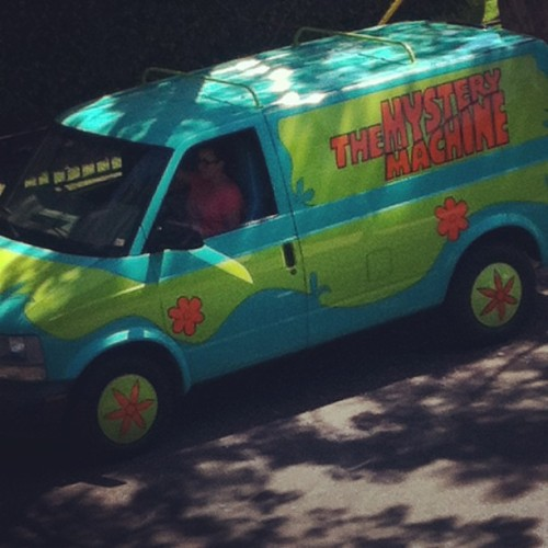 The Mystery Machine is hot on the trail! (Parked right outside my apt!)