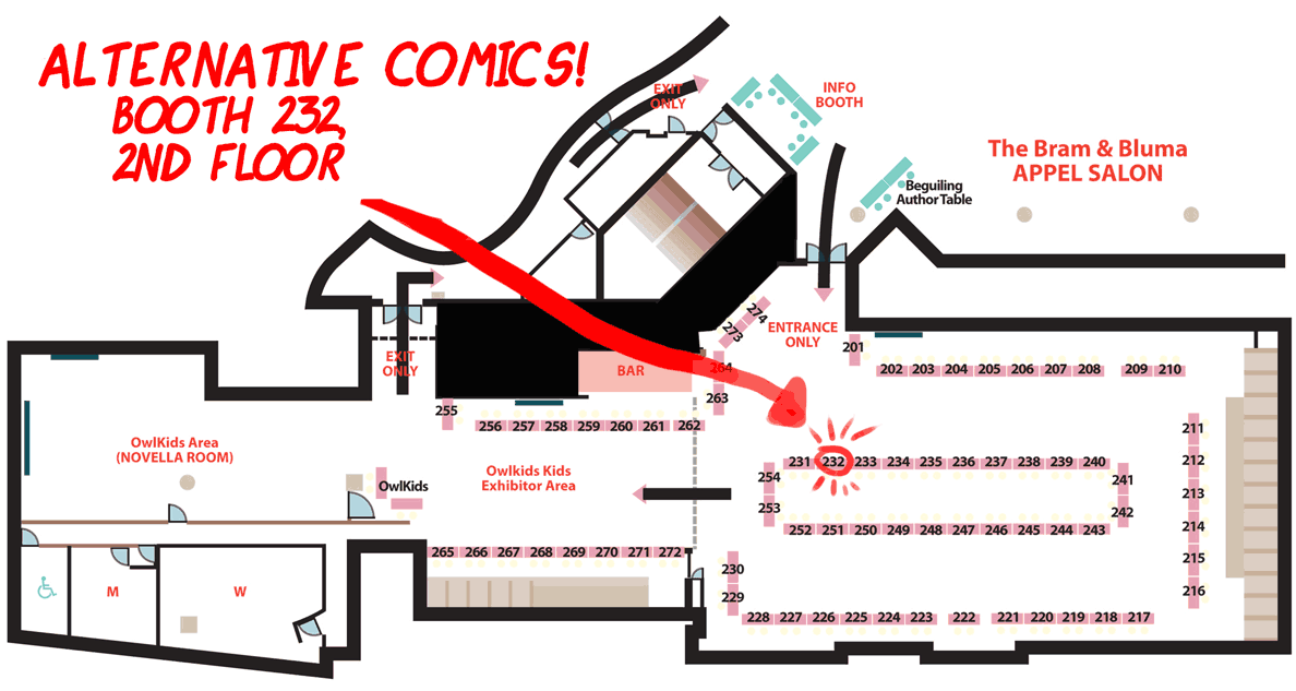 lookstraightahead:  Hey guys! I'm going to be at TCAF this weekend! Yay! I'll be officially debuting the print version of Look Straight Ahead. Here's where you can find me, along with Karl Stevens (debuting his book Failure) & Robin McConnell! Hope to see you there!  Come see Elaine as well as Robin Inkstuds for day two of TCAF!