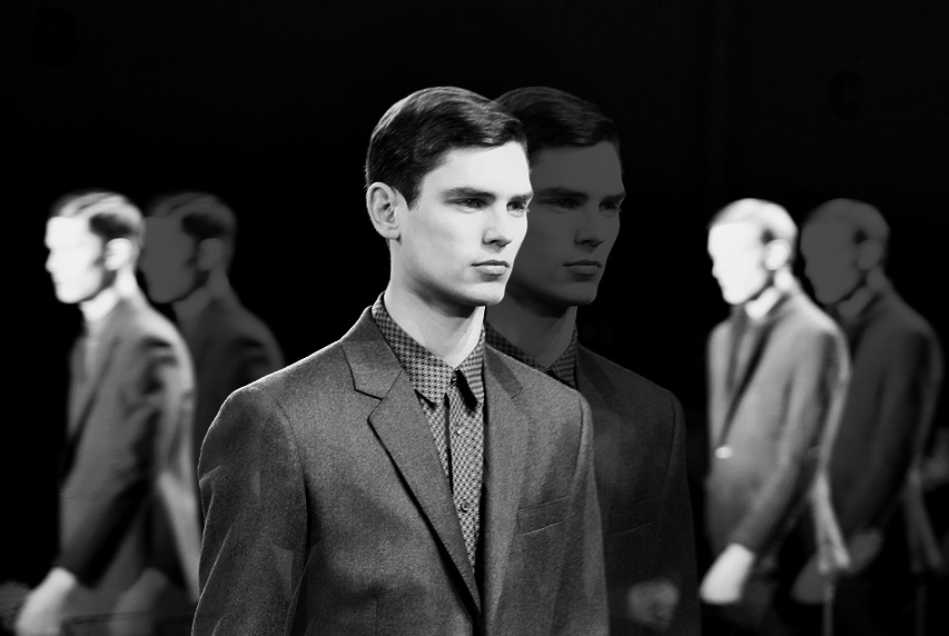 uomofoto:  Arthur Gosse at Perry Ellis by Duckie Brown F/W 13
