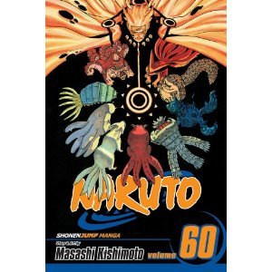 Place a hold here. The world's most popular ninja comic! Naruto is a young shinobi with an incorrigible knack for mischief. He's got a wild sense of humor, but Naruto is completely serious about his mission to be the world's greatest ninja! Naruto impresses the Allied Shinobi Forces with his newfound strengths, but his comrades are not going to leave this final battle against the forces of Tobi (aka Uchiha Madara) up to Naruto alone. As they rush to assist their friend, old pals like Sakura vow to stand by Naruto till the end. In the midst of all this…Sasuke returns. And this time, he's intent on taking out Naruto once and for all. Reads R to L (Japanese Style) for teen audiences. (from amazon.com)
