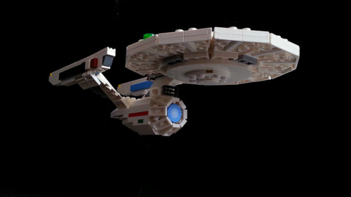 LEGO USS Enterprise by ltnooy on Flickr.Ah Legos, so awesome.