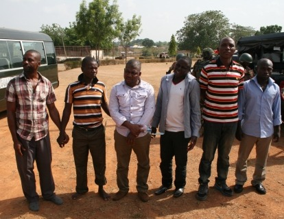 EFCC Press Release: EFCC To Arraign 14 Suspected Oil Thieves By Wilson Uwujaren  The suspects - Joseph Amaechi, Israel Friday, Ubadia Francis, Abayomi Adebisi, Abdullahi Idris, Samuel Job, Onah Peter Ode, Sabo Tasha Hassan, Abdullahi Moh'd, Abubakar Abdulkadir, Ehiogu Paul, Ibrahim Saidu, Garba Mohammed and Bartholomew Onyema - were arrested at a military checkpoint at Toto, Nasarawa State by officers of the 177 Guards Battalion of the Nigerian Army, while attempting to transport 14 trailer loads of crude oil to the Northern states.  READ MORE…