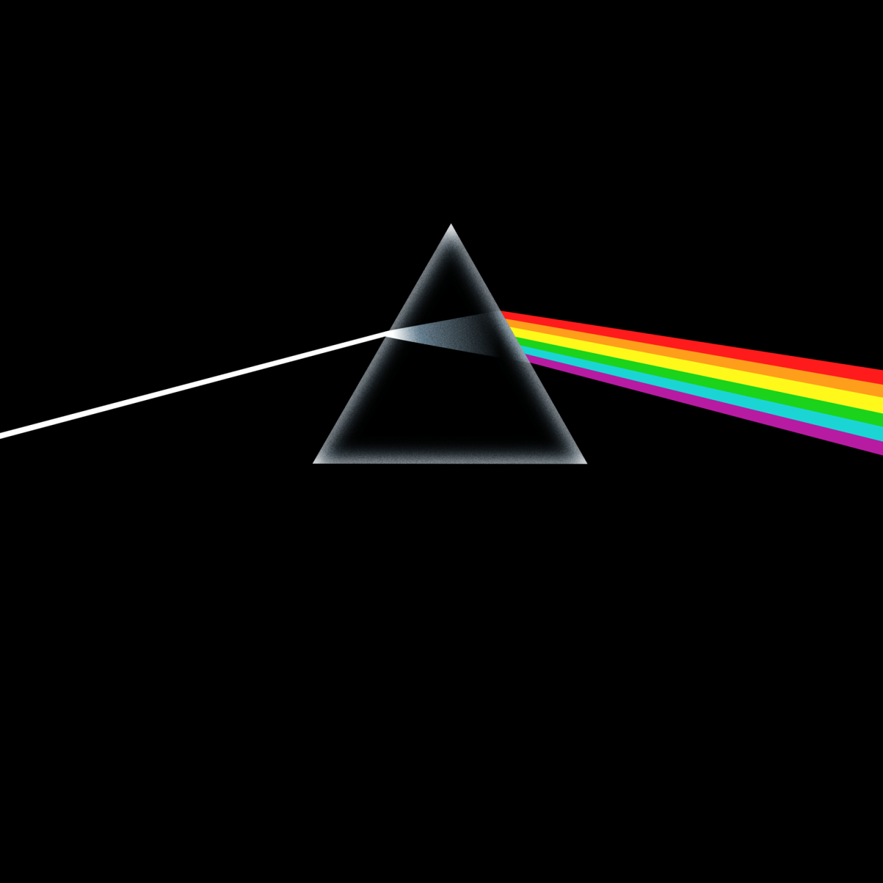 Pink Floyd 'The Dark Side of the Moon', Harvest, 1973. Designed by Hypgnosis and George Hardie. Artwork by George Hardie.