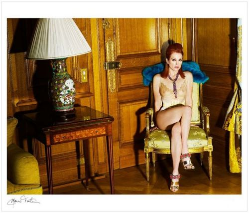 Julianne Moore at The Crillon Hotel, Paris by Mario Testino, 2010