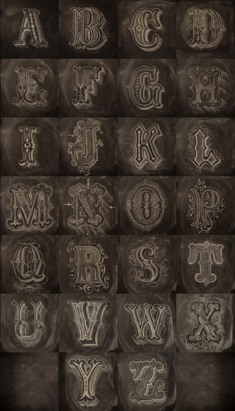 type-lovers:  Chalk Alphabet