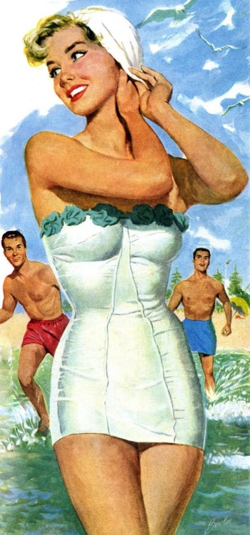 Joe Bowler illustration, 1950s.