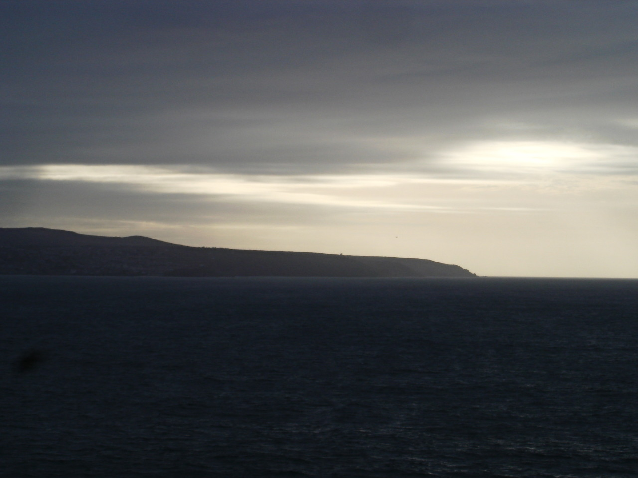 Fading light: St. Ives bay from Gwithian