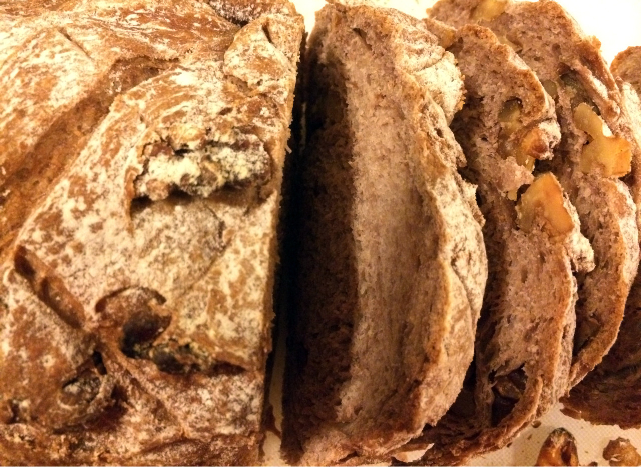 Some really great walnut bread (from 'Short and Sweet' by Dan Lepard)