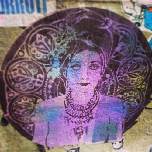 Pike place street art.    #beauty #pikeplace #market #alley #graffiti #purple #vintage #artnouveau