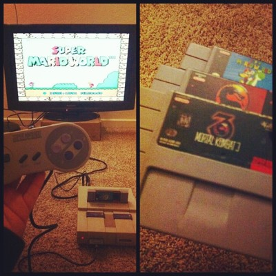 @hmsolis and I used to play this nonstop! #SuperNintendo #SuperMarioworld #MortalKombat