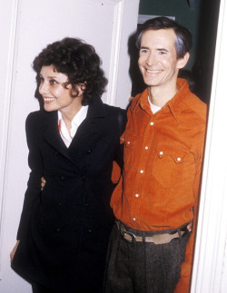 jewahl:   Audrey Hepburn visits Anthony Perkins backstage after seeing him in the play Romantic Comedy, 1979.   that can't be audrey…