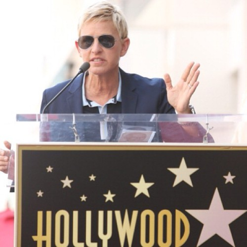 #ellen #ellendegeneres #steveharvey #walkoffame #swag #cute #blonde #lovely