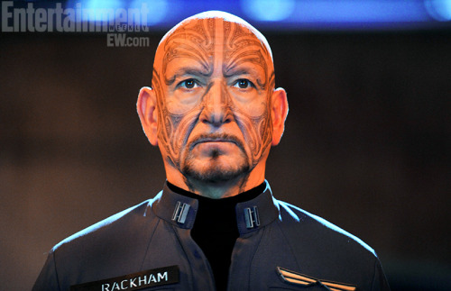 "bapgeek:  racebending:  New photo released of Ben Kingsley as Mazer Rackham, a military commander of Maori descent, in ""Ender's Game"" (2013). Regarding the ta moko, Kingsley says:  ""Every gesture in the tattoo carries family history, family struggles – it's your past,"" the actor says. ""I was so enthralled. He's in quite a contained, stylized uniform but then this wonderful face tells his warrior history.""  Rackham is an important character of color in the Ender's Game novel—and arguably the highest profile Maori character in any upcoming tent pole movie this decade. Roles like this one do not come along often for actors of Pacific Islander descent. While the role is being portrayed by an actor of color, it is hard not to feel disappointed that the production did not cast a Maori actor to play this role.   This is getting exhausting. But at least these studios are helping me save my hard-earned money.  ^^^"