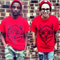 notattoosdienaked:  There are still a few shirts left in the #NTDN red wolf tees and they are on SALE for just $10!! Go get yours now at http://notattoosdienaked.bigcartel.com #tattoos #wolf #inked #wolfpack #wolves