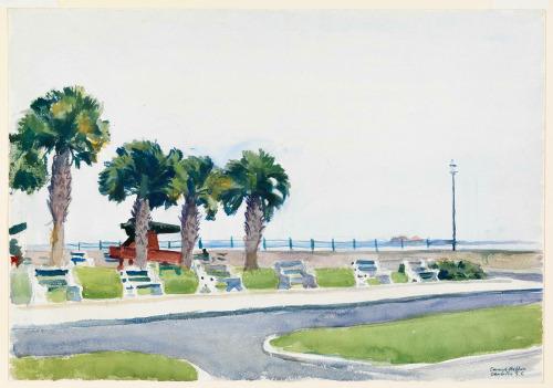 Edward Hopper The Battery, Charleston, S.C. 1929 #Edward Hopper#art