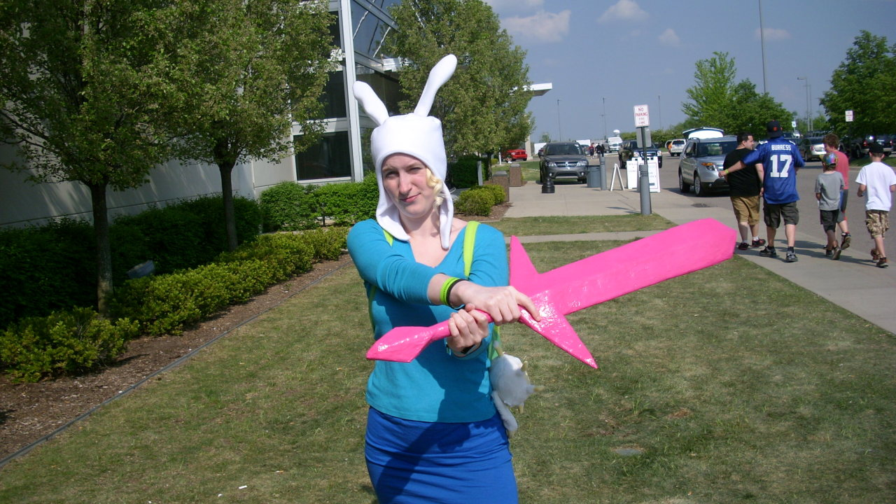 I loved being Fionna today. I got my picture taken with a bunch of cute kids and cool people. Had a total blast and I'm glad I made my Crystal Sword. It was Mathmatical!
