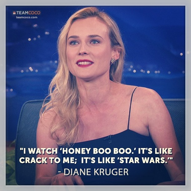 Last night on CONAN: #DianeKruger on #HoneyBooBoo. #TheBridge  (at Warner Bros Stage 15)