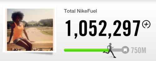 Just realized I hit over 1 million Nike Fuel Points.