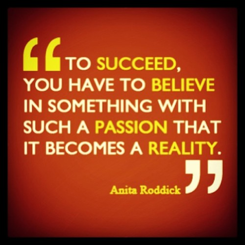 "#todays #quote to start the #day ""to succeed you have to believe in something with such a passion that it becomes a reality."" @katarinabaliova"
