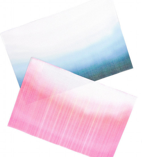 DIY dip dye placemats, via Design Sponge