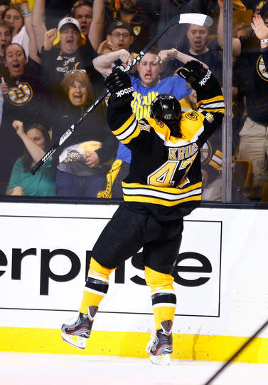 Krug scored  Marchand got air.
